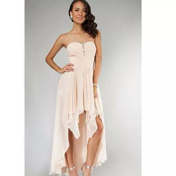 PromGirl Dresses | Nude Pink High Low Prom Dress | Poshmark